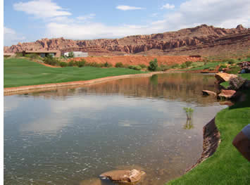 Entrada Golf Course pond
